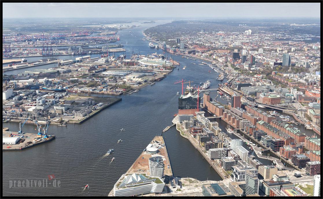 Luftaufnahmen von Hamburg – 28.4.2013