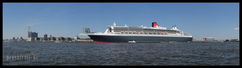 Am 19.7.2014 wird 10 Jahre Queen Mary 2 in Hamburg zelebriert.