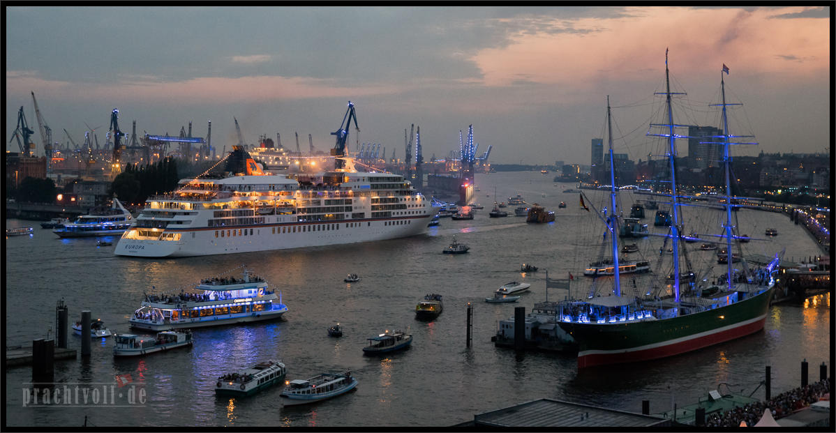 Hamburg ruft, und sie kommen: Cruise Days 2.8.2014 im Hamburger Hafen