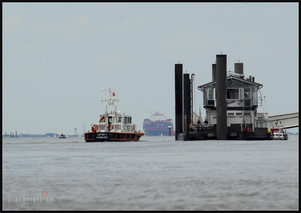 Am 18.5.2014 kommt das nagelneue Containerschiff LUDWIGSHAFEN EXPRESS zum  ersten Mal   nach Hamburg.